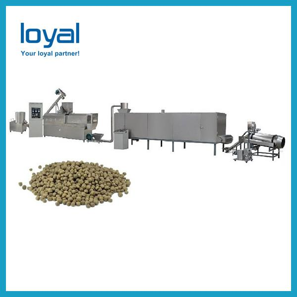 Steam heating Twin screw extruder machine for fish feed, pet animals food #2 image