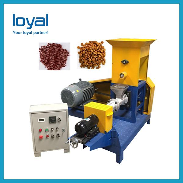 Steam heating Twin screw extruder machine for fish feed, pet animals food #3 image