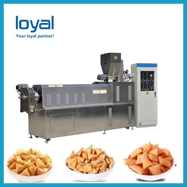 Crispy snacks fried cheetos shell bugles pizza roll machine production line #3 image