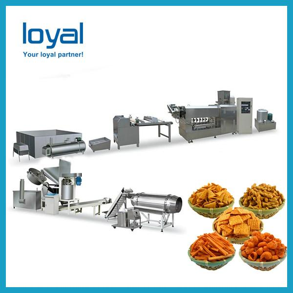 Crispy snacks fried cheetos shell bugles pizza roll machine production line #2 image
